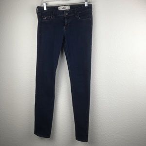 Hollister Jeans SZ 5R Solid Blue High Waist Skinny